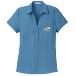 KM22/L662<br>PA Ladies Textured Camp Shirt