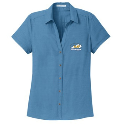 KM22<br>PA Ladies Textured Camp Shirt